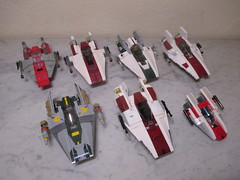 LEGO Star Wars A-wing collection
