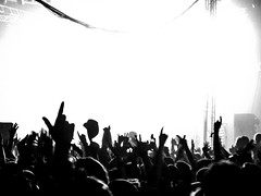 Justice (thebastardchild) Tags: amateur amateurphotography art canonixus canonixus100is compact compactcamera digital digitalphotography hobby passion canon happy parklife 2012 parklife2012 live livemusic gig festival manchester uk justice crowd fromthepit blackandwhite bw