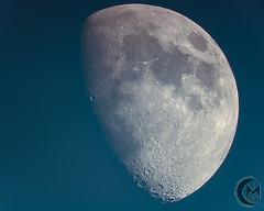 69.8% Waxing Gibbous Daytime Moon [2019.05.13] (1CM69) Tags: 1cm69 750d as3 astrophotography autostakkert bishnym bishopsnympton byeos canon canon750d celestron celestroncpc925 cpc925 exiftool geosetter kjevans luna lunar lune moon photoshop pipp starizonamicrotouchautofocuser england unitedkingdom