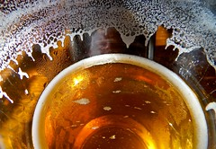 Self-Portrait Through a Glass of Beer (ricko) Tags: selfportrait glass beer foam drink iphone 2019 136365