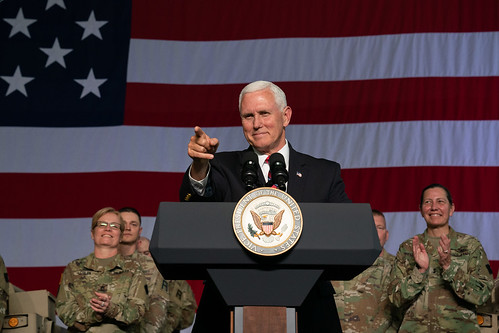 Vice President Mike Pence at Ft. McCoy by The White House, on Flickr