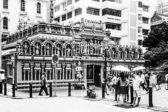 Sri Krishnan Temple (Thanathip Moolvong) Tags: olympus 35 sp ilford delta 400 film street singapore bw wb monochrome sri krishnan temple hindu
