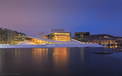 Oslo Opera House (samiKoo) Tags: building buildings architecture morning sky water reflection reflections snow ice urban city cityscape cityview cityscene street operahouse oslo norway travel lights nature colours longexposure photography photo photograph clouds canon 6d