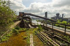 Final stop (Roysone) Tags: urbex urbanexploration rail track steel mill abandonned factory green rust