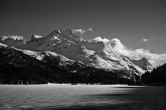 Engadin (RT-Fotografie) Tags: engadin snow winter sunset blackandwhite black white