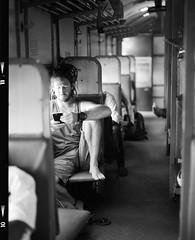 My friend:Simon Lutt (Jerry501) Tags: blackandwhite bw bnw bnwphotography india travel train hp5 ilfordhp5 105mm pentax67 portrait shootfilm onfilm film analog