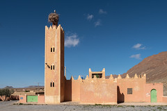 Mosque with stork nest (RaKra42) Tags: africa birds morocco mosque nest stork