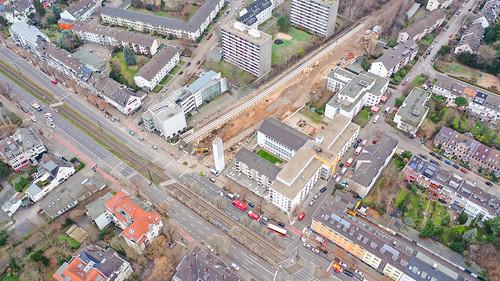 Defusing the World War II bomb in Cologne Braunsfeld 14.12.2018