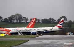 G-LCYX Embraer ERJ-190SR, BA Cityflyer, Bristol Airport, Lulsgate Bottom, Somerset (Kev Slade Too) Tags: glcyx embraer erj190 bacityflyer mainapron eggd bristolairport lulsgatebottom somerset