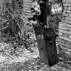 (pollution lumière) Tags: leica leicaflex sl2 summicronr50mm kodaktrix400 blackwhitefilm blackwhite bwfp blancoynegro blancetnoir blackandwhitefilm abandoned belleisle richmond alteseinauge