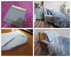 11. Al Foil Blankets (Foxy Belle) Tags: dollhouse 112 make craft diy over bed bedding sew miniature bedroom