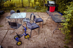 Backyard (HDR EVERYTHING) Tags: hdr highdynamicrange backyard lovehdr chairs outside outdoors 2019 colors newjersey nj usa photomatix polarr tricycle