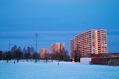 Large blocks, a society in itself? (Sondre_RS) Tags: canon eos m50 ef 1740mm f4l usm f4 ef1740mm blocks apartments flats dusk winter colors
