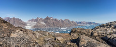 The descent from Kaerven.......... (apcmitch) Tags: mountains glaciers fjords icebergs greenland eastgreenland2014 extreme sonya7 dolphin