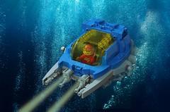 LL-515 Interplanetary-Submarine Explorer (The Brick Artisan) Tags: lego neoclassic neo classic classicspace ll515 spaceship spacecraft spaceman space sub submarine