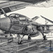 B&W HDR of Resting EA-6B Prowler at Museum of Flight in Seattle