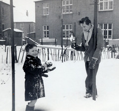Scotland, 1959 (M McBey) Tags: old snow child 1958 play