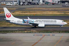Japan Transocean Air Boeing 737-8Q3 JA09RK (Mark Harris photography) Tags: spotting hnd plane aviation canon 5d