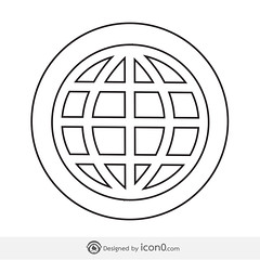 Earth icon  world icon globe icon  sign symbol (www.icon0.com) Tags: globe icon global world planet earth symbol sign map travel internet sphere vector element geography round around graphic modern isolated illustration logistics network pictogram web collection business simple design technology orbit geology transport concept application black flat object america fly continent ecology africa line international europe communication circle app shape