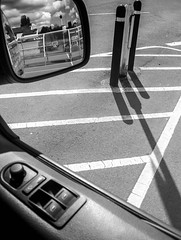 Tesco Car Park (stephenbryan825) Tags: liverpool merseyside tesco vw woolton car carpark chevrons glass reflection shadows