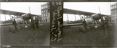A stereo glass plate negative of a Paul Schmitt P.S.7 biplane at Buc in June 1914 [France, 1913 - 1914] (Kees Kort Collection) Tags: 1914 buc concoursdelasécurité glassplatenegative paulschmitt schmitt stereopicture