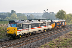50007 and 50031 approaching Blakedown 01.05.2019 (Wolfie2man) Tags: 50007 50031 hoover hood hercules 0z56 gbrf intercity class50 thefiftyfund theclass50alliance