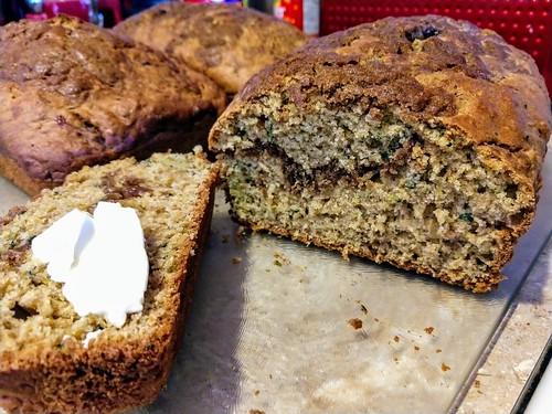 Layered Cinnamon Zucchini Breakfast Bread With Butter