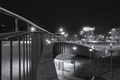 Urban bridges (frankdorgathen) Tags: sonyrx100m3 sonyrx100iii nacht nachtaufnahme night nightshot monochrome blackandwhite schwarzweiss schwarzweis innenstadt downtown ruhrpott ruhrgebiet essen cityscape city urban brücke bridge