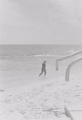 Beach 9 (adam_h_photo) Tags: halfframe olympuspenft monochrome film filmphotography 35mm analogue analog photofilmy ishootfilm istillshootfilm blackandwhite beach