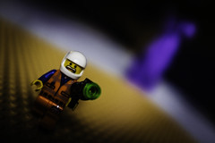"Week 20 - Negative Space: ""The Purple People-Eater"" (Caleb McCary) Tags: dogwood2019 dogwood2019week20 negative space lego toy fugifilm fugi myfugifilm x100f"