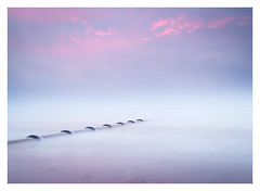 Embrace (picturedevon.co.uk) Tags: goodrington beach paignton torbay devon uk sunrise le longexposure minimal seascape fineart sky clouds mist fog weather color blue pink water sea pipe nisi canon picturedevoncouk