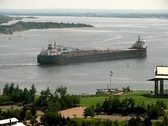 Freighter Entering Duluth Harbor (Ken S Three) Tags: ship freighter duluth minnesota