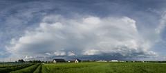 Thunderstorm near by Debica City (wlodiwlodi) Tags: summer poland sky cloud clouds fields field panorama niebo chmury polska dębica podkarpacie lato wiosna 2018 2019 canon 400d burza storm