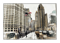 Winter at Chicago (Jean-Louis DUMAS) Tags: urbanisation urbanisme urban town darkness dark artchitecte architecture architect shot tour building immeuble chicago ville bâtiment architecturale architectural architecte neige snow hiver winter