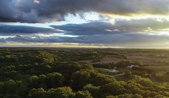 Rural Landscape (mbinebrink) Tags: rural countryside farmland landscape trees forest dji drone aerial aerialphotography sunset clouds church sky