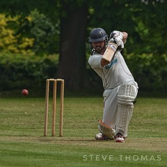 Punched through cover. (Steve.T.) Tags: cricket cricketball higheastercricketclub essex sport sportphotography sportsphotography sportphotographer coverdrive downononeknee nikon d7200 sigma150600 sportsaction cricketer