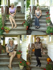 On One Of The Most Frequently Photographed Front Porches In The World (Laurette Victoria) Tags: woman laurette composite porch