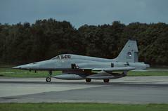 NF-5A K-3042 - RNethAF 313Sqn 870915 Twenthe (Nikon Photographer NL) Tags: rnethafnavy military dutch nederlands aviation