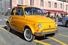 Fiat 500 (Monde-Auto Passion Photos) Tags: voiture vehicule auto automobile fiat 500 petite little jaune yellow ancienne classique collection légende france fontainebleau