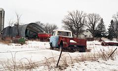 """""""Winter Rest"""" 2015 (Alan Yahnke) Tags: pentaxmesuper smcpentaxm1250mmlens kodakproimage100film epsonv750scanner jeep"""