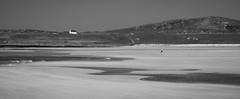 The Kite Runner (Marion McM) Tags: beach kite child running house cottage hills sea water sky landscape blackandwhite monochrome island islay argyllandbute scotland 2019 canoneos6dmk11