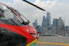 London's Air Ambulance at the Royal London Hospital (kertappa) Tags: img1716 air ambulance londons london hems doctor paramedics hospital glndn emergency helicopter kertappa royal whitechapel