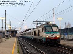 Ricordando la E402A 017 (Salvatore Romano d'Orsi - Savvo19) Tags: savvo19 fs trenitalia treno intercity 597 ex vesuvio stazione di prato centrale italia toscana trasporto veicolo inverno 2018