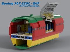LEGO Boeing 707-320C - WIP 01 (Lt. SPAZ) Tags: lego boeing 707 320 airliner moc wip jumbo jet jetliner