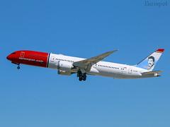 LN-LNR Boeing 787 Norwegian (@Eurospot) Tags: lnlnr boeing 787 7879 norwegian lebl barcelona
