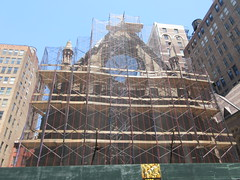 2019 Trinity Chapel Church Rebuilding after 2016 Fire 8563 (Brechtbug) Tags: 2019 trinity chapel complex church ruin from fire 05032016 may 3rd 2016 located flatiron district 15 west 25th street between broadway avenue americas 6th 05182019 constructed 185055 was designed by architect richard upjohn english gothic revival style gutted ruins nyc urban new york city manhattan later named serbian orthodox cathedral st sava saint bust nikola tesla stands outside