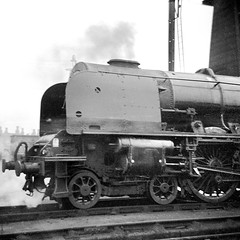 Crewe North, 46228 Duchess of Rutland (2) (Garter Blue) Tags: lms duchess crewe crewenorth steam br film blackwhite bw