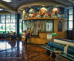 Slow day at the Bus Station (Kool Cats Photography over 12 Million Views) Tags: streetphotography architecture atmosphere background backdrop building detail design image inside interior oklahoma photography photo ricohgrii ricohimagingcompany busstation hdr