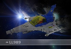 LL 989 ....again:) (Sebastian H. Rohde) Tags: ll989 lego moc spaceship space classic planet