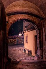 Light of old Times (M-Z-Photo) Tags: rothenburgobdertauber bayern deutschland langzeitbelichtung stadt nachtaufnahme tor türe strase street altstadt alt hdr lichter lampe